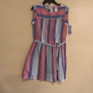 Carter's pink and blue striped dress